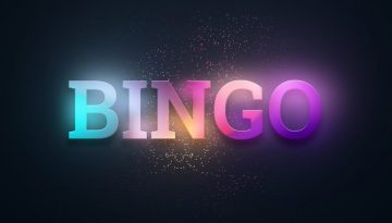 Creative background, the inscription bingo on a red background. Concept win, casino, idea, luck, lotto. 3D illustration, 3D rendering.